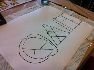 Auf Grundformen andere Formen machen--üben / Making various forms out of basic forms--practice