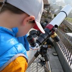 Die aufgestellten Teleskope wirkten wie Magnete / The telescopes that were set up were like magnets