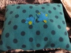 Fertig ist ihr Kissen! / The pillow is done!