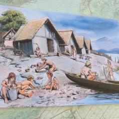 So sah ein Pfahldorf aus / This is what a stilt village looked like