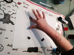 Mit den Fingern drucken! / Printing with the fingers!