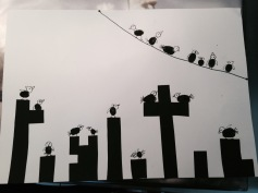 Schnüselis fertiges Kunstwerk / Honeybunny's finished artwork