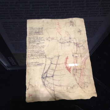 Ein Original Notizblatt / One of his original notes