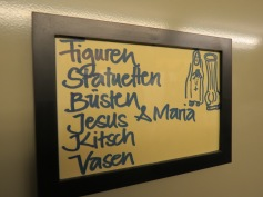 Even Jesus and Mary are shelved here! ;)