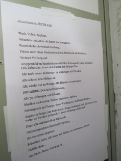 Was muss wann gemacht werden beim Applaus / What has to be done when at the end of the show
