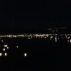 Laternen auf dem Murtensee / Lanterns on the lake