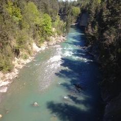 Wir überquerten die Aare mehrere Male / We crossed the river Aare several times