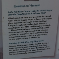 Wissenswertes am Fish River Canyon / Interesting facts at the Fish River Canyon