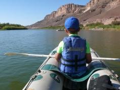 Kanu fahren auf dem Orange River / Canoeing on the Orange River