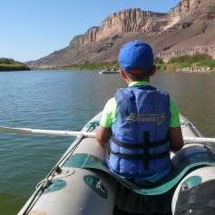 Kanu fahren auf dem Orange River / Canoeing on the Orange River