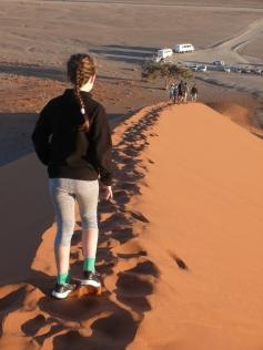 Frühmorgentlicher Spaziergang auf der Düne 45 / Early morning walk on Dune 45