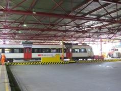 Transport durch die Halle / Transportation through the hall