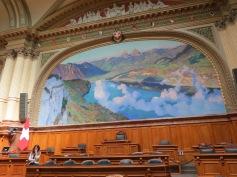 Berühmtes Gemälde im Nationalratszimmer