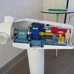 Windturbine Modell von innen