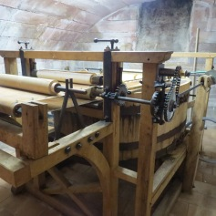 Alte Papierpress